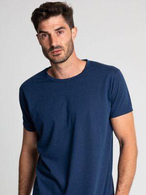 Camiseta algodón antimosquitos hombre azul 1