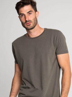 Camiseta antimosquitos algodón hombre caqui 1