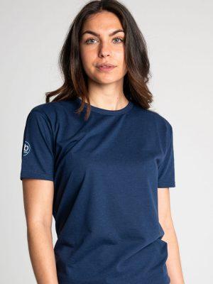 Camiseta antimosquitos algodón mujer marino 1