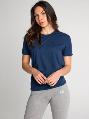 Camiseta antimosquitos algodón mujer marino 2
