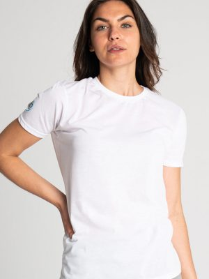 Camiseta algodón antimosquitos mujer blanco 1