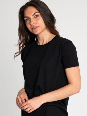 Camiseta algodón antimosquitos mujer negro 1