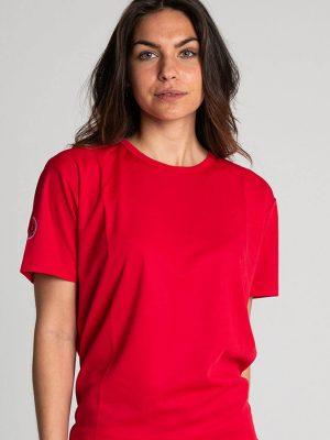 Camiseta técnica antimosquitos mujer rojo1