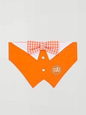 Pañuelo pajarita antiparasitario naranja